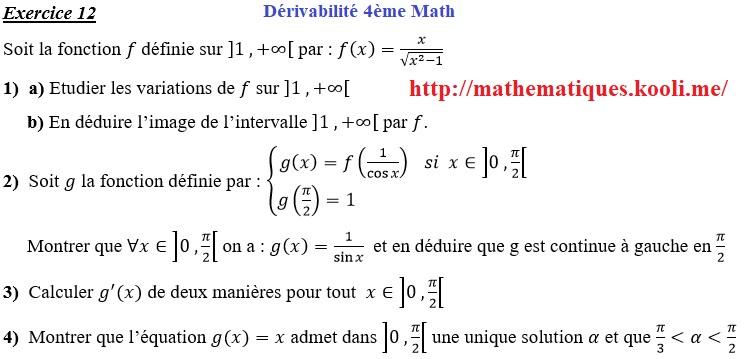 Exercice de mathématique